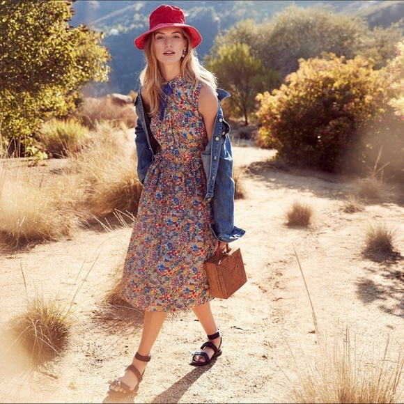 J. Crew Dresses & Skirts - 💐JCrew Tall Shirtdress in Liberty Margaret Annie print with removable necktie💐
